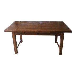 Contemporary Carved Wood Three-Drawer Desk