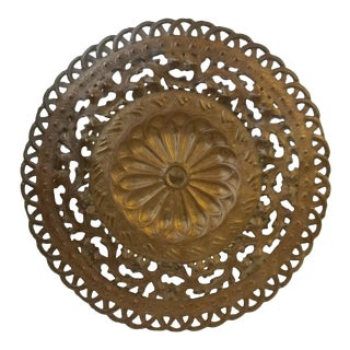 Vintage  Bronze  Metal Wall Medallion