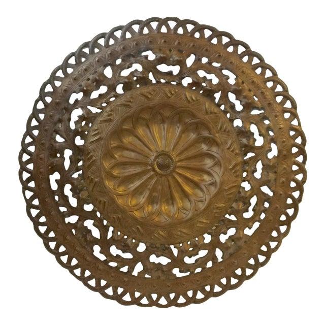 Vintage Bronze Metal Wall Medallion