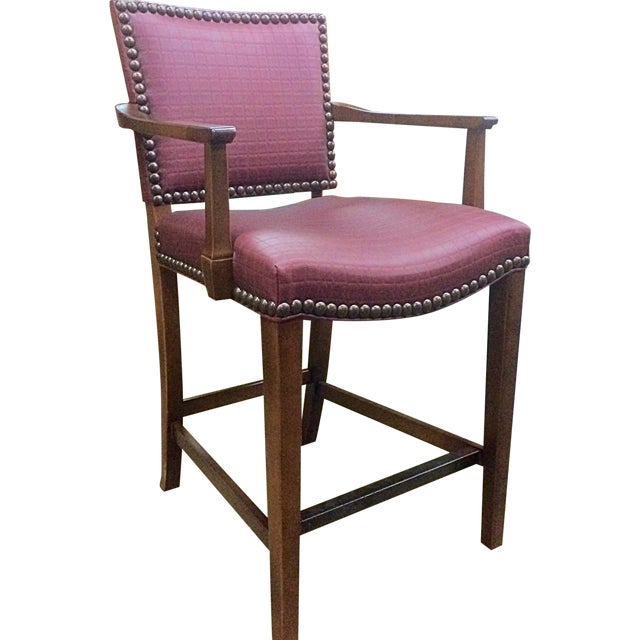 Hickory Chair Co. Studded Madigan Counter Chair - Image 1 of 3