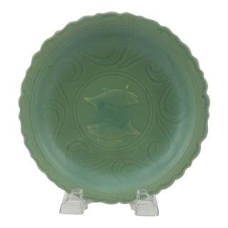 Chinese 2 Fish Celadon Plate