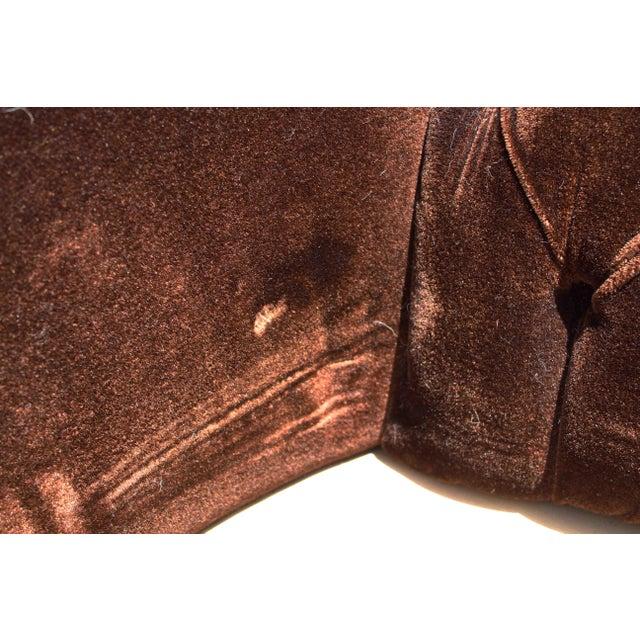 Vintage Mohair Velvet Chair - Image 3 of 10