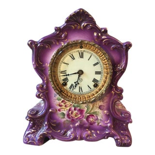 Wyoming Purple Porcelain Clock