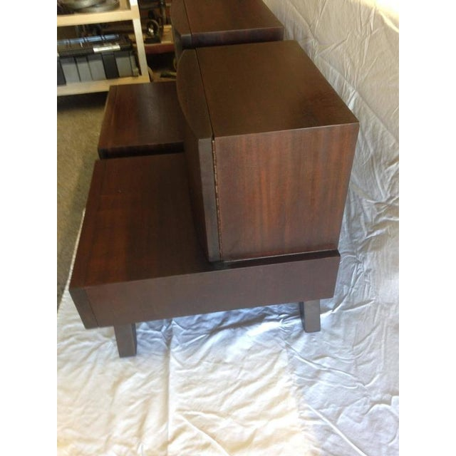 Mid-Century Wooden Bedside / End Tables - A Pair - Image 2 of 3