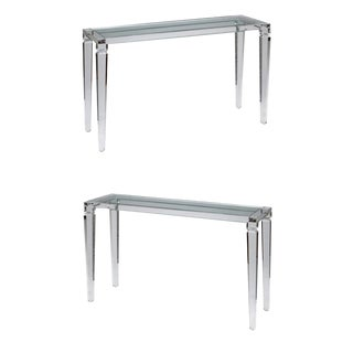 Elegant Perspex Console Tables - A Pair