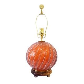 Mid-Century Coral Murano Glass Lamp