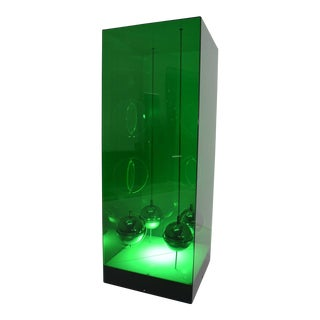 Large Lighted Lucite Box Sculpture