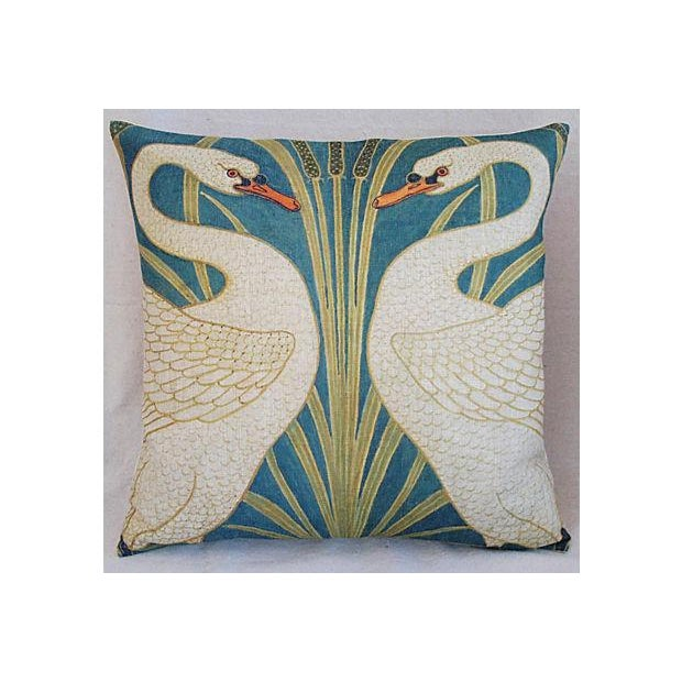 Swans Linen Down & Feather Accent Pillow - Image 3 of 4