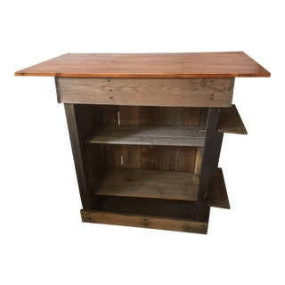 Country Rustic Style Handcrafted Kitchen Island