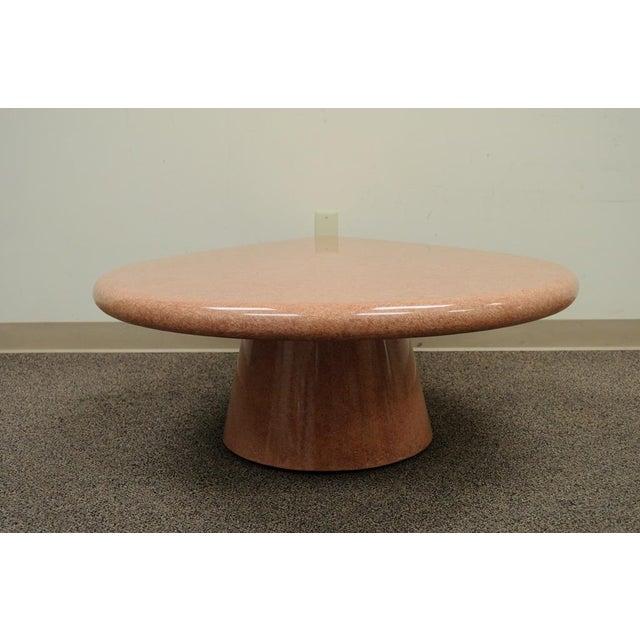 Vintage Mid-Century Modern Hollywood Regency Pink Tear Rain Drop Coffee Table - Image 5 of 11