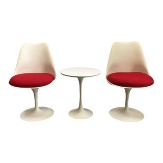 Saarinen Tulip Chairs & Table - Set of 3