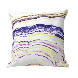 Kristi Kohut World Agate Pillow