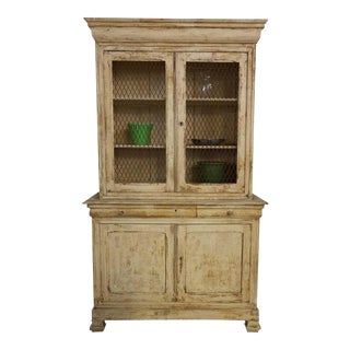 French, 19th Century Distressed Bookcase