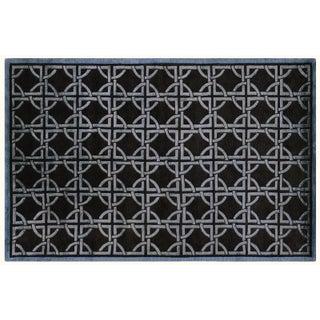 Wool and Silk Tibetan Rug - 5′6″ × 8′6″