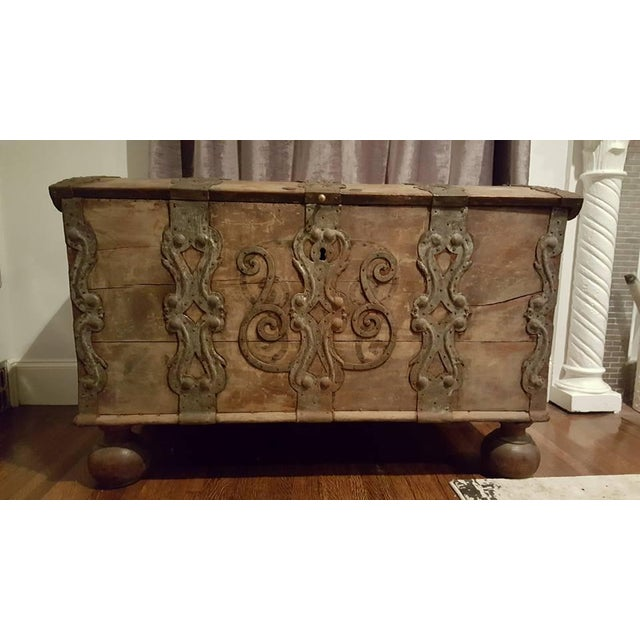 17th Century Iron Banded Coffer - Image 2 of 7