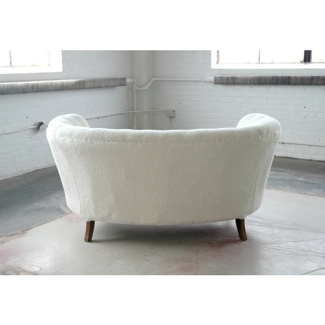 Vintage Slagelse Moebelvaerk Danish Loveseat - Image 3 of 8