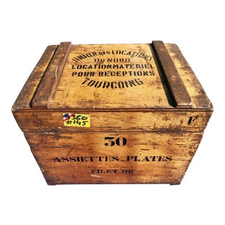 French Wooden Catering Crate
