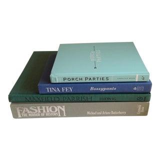 Aqua & Gray Hardback Books - Set of 4