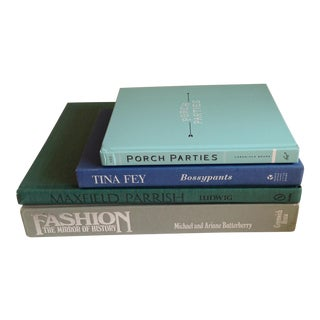 Aqua & Gray Hardback Books - Set of 4