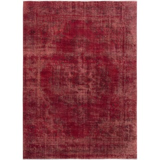 "Cherry Pink Turkish Overdyed Rug - 8'5"" X 11'7"""