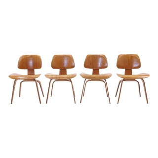 Set of Four Vintage Eames DCWS Add Our Red Eames Dining Chairs to Make Six