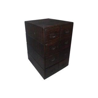 Antique File Card Cabinet