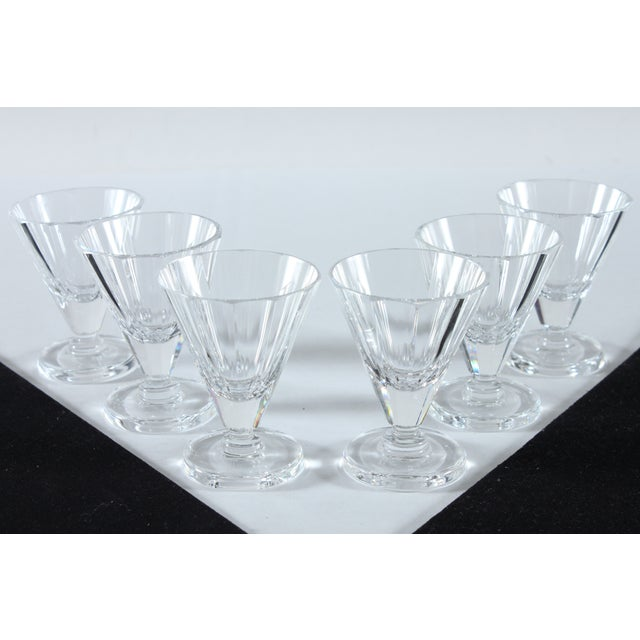 Image of Crystal Cordial Glasses with Round Base - Set of 6