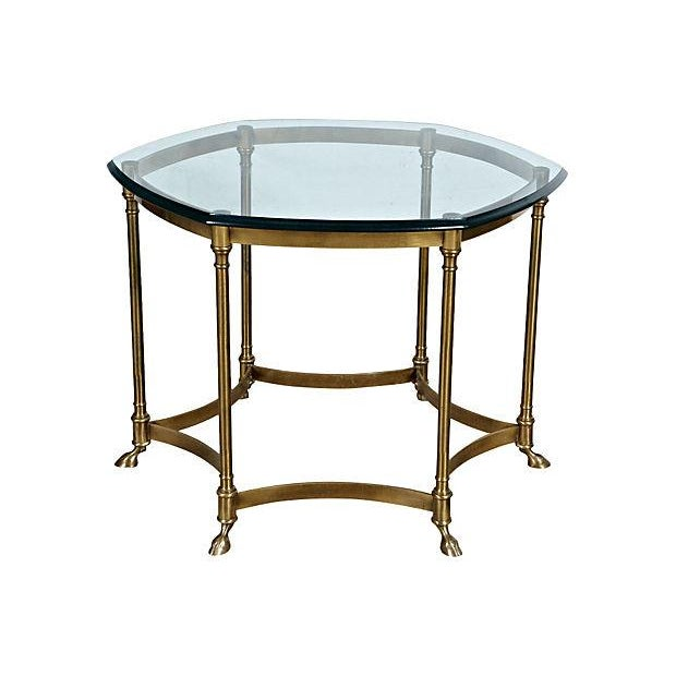 Image of 1960's 6-Sided Glass-Top Table