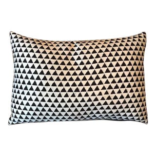 Modern Black & White Triangle Print Decorative Pillow