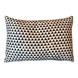 Modern Black & White Triangle Print Decorative Pillow
