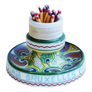 French Porcelain Match Striker Holder