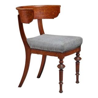 Oak Klismos chair with sculpted front legs, Denmark