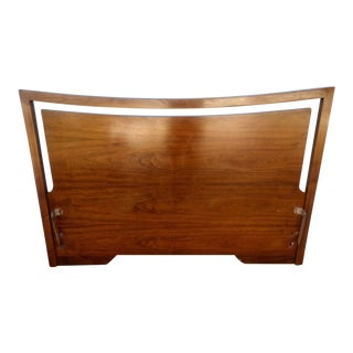Mid-Century Walnut Full Headboard
