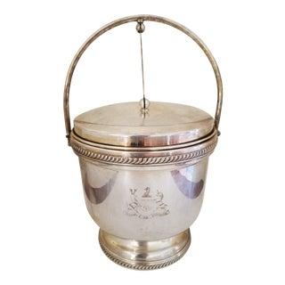 Hinged Lid Mid-Century Silver Plate Ice Bucket