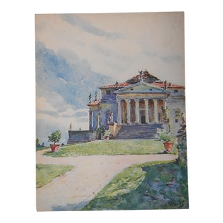 Vintage Lithograph Northern Italy, Vicenza