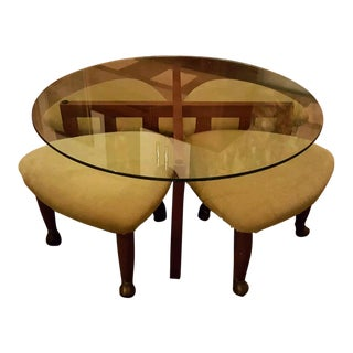 Adrian Pearsall for Craft Associates Mid-Century Coffee Table & Stools- Set of 5