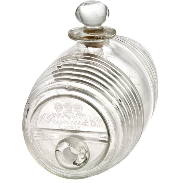 Vintage French Glass Cognac Barrel - Image 1 of 6