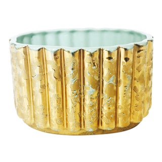 Vintage Gold Splatterware Planter