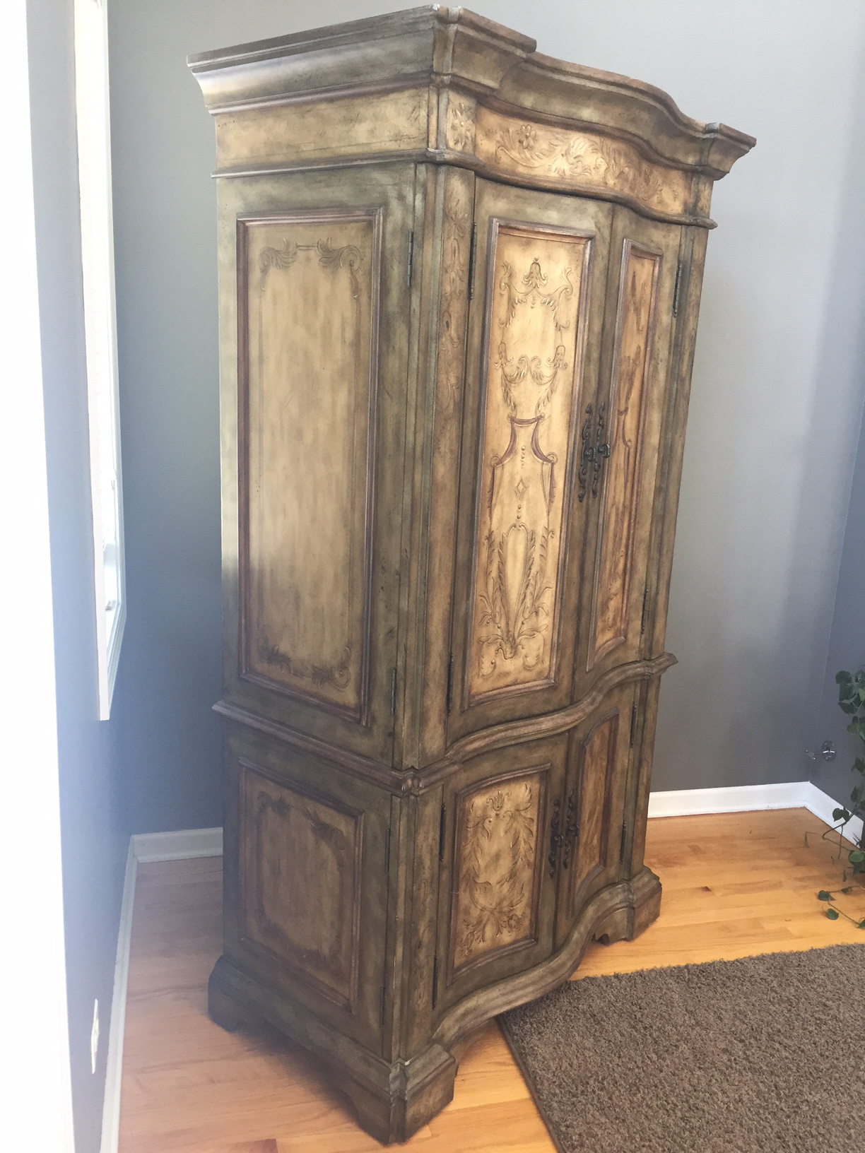 Hooker Furniture Hand Painted Armoire   Image 3 Of 8