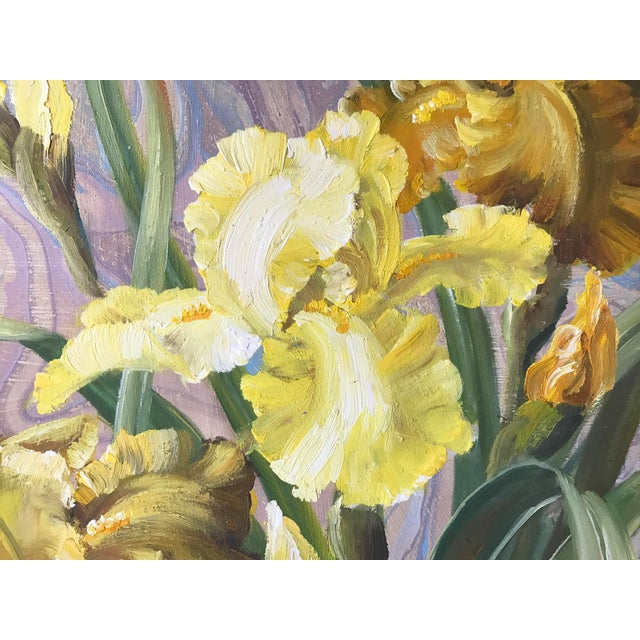 Framed Daffodils Oil Painting - Image 4 of 5