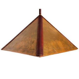 Art Deco Brass Hanging Lamp after Jacques Lafon