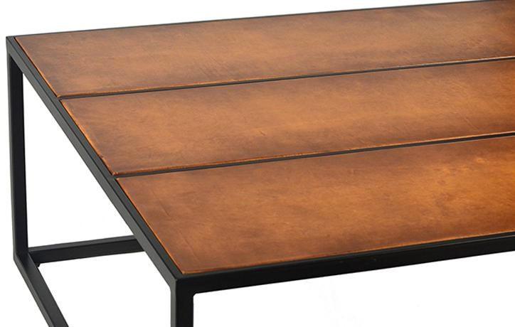 Leather Inlay Coffee Table Chairish