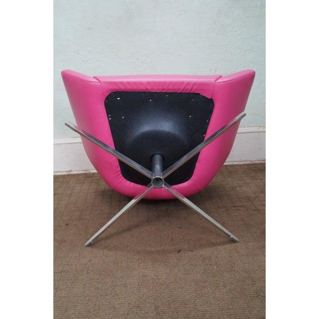 Chrome Base Mid Century Swivel Lounge Chair Pair Chairish