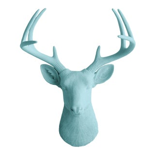 Wall Charmers Faux Taxidermy Pool Blue Deer Mount