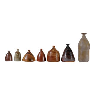 Franco Agnese Collection of Seven Ceramic Vases, France, 1960s