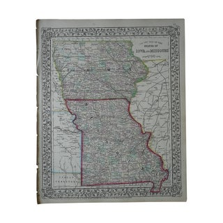 Antique Map of Iowa & Missouri