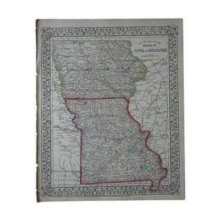 Antique Map of Iowa & Missouri