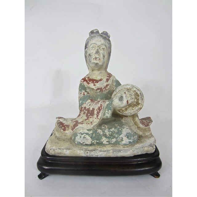 Chinese Tang Dynasty Pottery Figure of a Musician - Image 2 of 6
