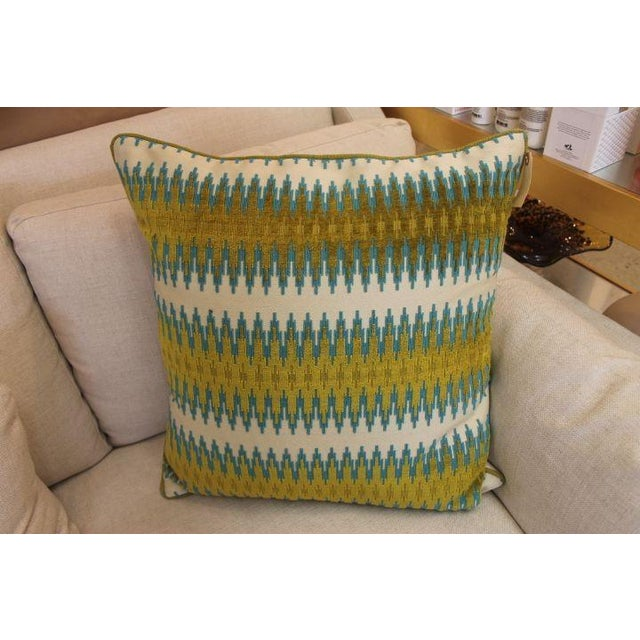 Image of Blue-Green Linen Pillow