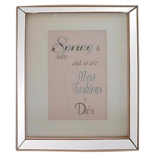 Hand Lettered Dior French Fashion Poster Mirror